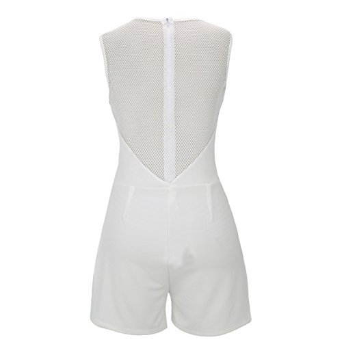 Laeticia Dreams - Combinaison - Relaxed - Uni - Sans Manche - Femme Blanc - blanc