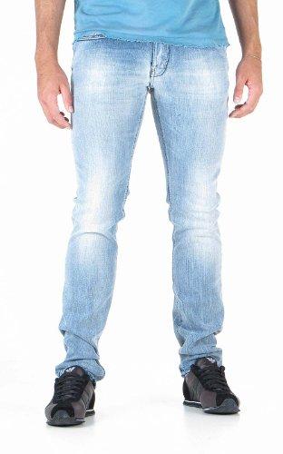 GAS ALBERT RS.A W838 Pantaloni jeans uomo 5 tasche dalla vestibilità asciutta slim