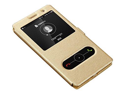 Deesos Huawei Mate 8 Funda Flip Delgado Cover Doble Ventana Stand Función...