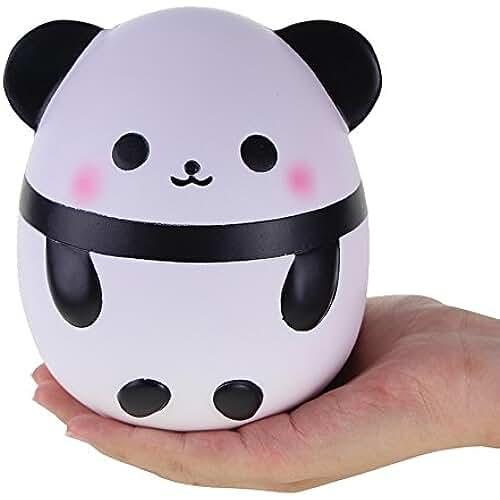 juguetes kawaii VLAMPO Rosybeat Squishy Jumbo Panda lindo Kawaii Cream Squishies perfumados Very Slow Rising Toys Juguetes de colección de alivio de estrés Panda squishy 6.3