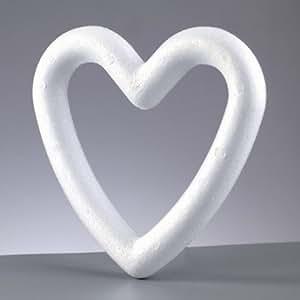 Cadre / couronne forme coeur polystyrène plein 15 cm, densité supérieure