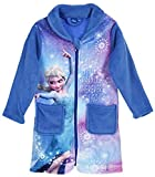 Trendstern Trendprodukteshop Frozen *Die Eiskönigin* Anna und ELSA Mädchen Coral Fleece Bademantel + EXTRA Frozen Geschenktasche (128)