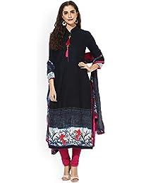 Monika Silk Mill Women's Latest Blue Color Chanderi Cotton Party Wear Casual Wear Festival Collection Dress Materials...