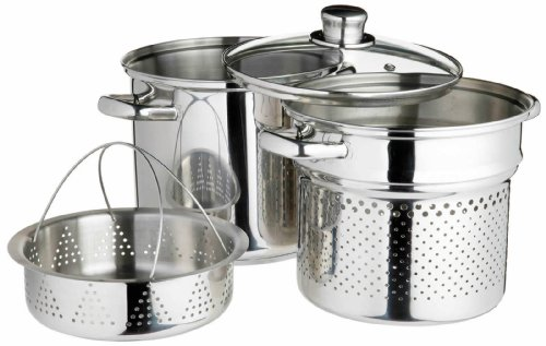 kitchen-craft-world-of-flavours-italian-stainless-steel-4-l-pasta-pot-with-steamer-insert-20-cm