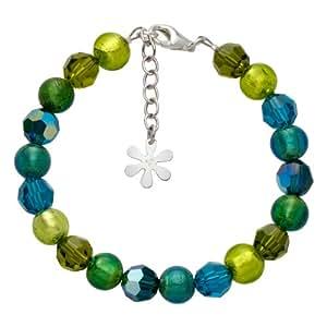 Valentina Genuine Murano Glass Lime Bead Bracelet of 19.5cm