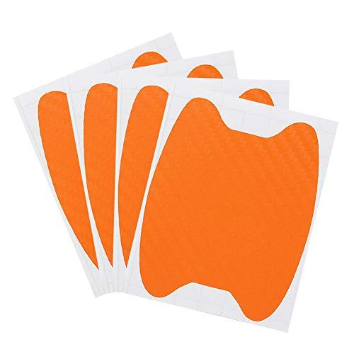 SENZEAL 4X Schutzfolie für Griffmulden Griffschalen Kratzfeste Aufkleber Kratzer für Auto-Türgriffe Silber