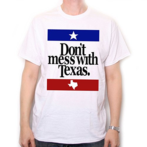 Don't Mess With Texas T Shirt - Baumwolle Confederate Flags