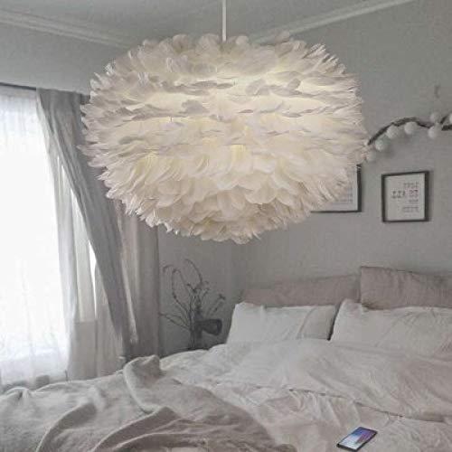 Postmoderne Feder Kronleuchter Nordic Restaurant Minimalistischen Stil Mode Kunst Warme Schlafzimmer Lampe Weißes Licht 40 Cm - Fantasy-bronze-kronleuchter