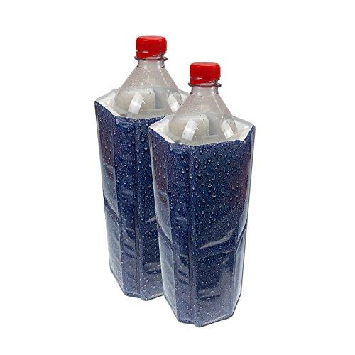 2 Stück Vacu Vin Flaschenkühler für 1,5 Liter Flaschen Rapid Ice Wasser Kühler