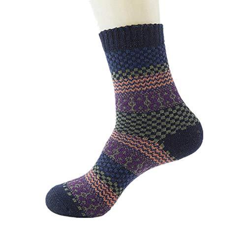 Kissen, Wollsocken (Adminitto88 Herren-Socken aus Wolle, mit Winter, warm, Thermo-Kissen, Wollsocken, Merinowolle, mit Männern, Wintersocken, aus Wollmischung, warm, Ausrüstung dunkelblau)