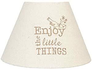 Marque :  clayre eef abat-jour & 6LAK0229 naturellement inscription enjoy the little things env. ø 22 e27 x 14 cm
