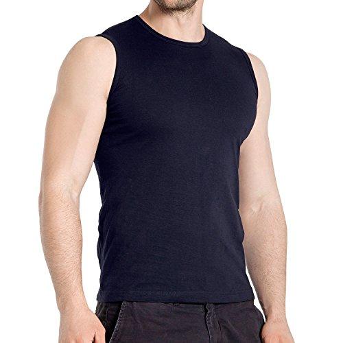 3er Pack Herren Sleeveless Fit T-Shirt Celodoro Exclusive Deep Navy-XL (Shirt Muskel-fit)