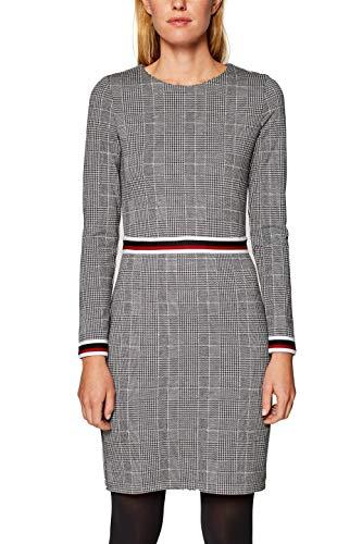 edc by ESPRIT Damen Kleid 108CC1E019, Schwarz (Black 001), Medium