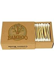 Bambus Wattestäbchen Holz Papierstiel umweltfreundliche Ohrstäbchen Bio-Tupfer (3er-Pack mit 600)