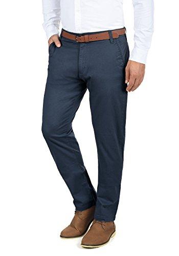 !Solid Machico Herren Chino Hose Stoffhose Mit Gürtel Aus Stretch-Material Regular Fit, Größe:W38/32, Farbe:Insignia Blue (1991)