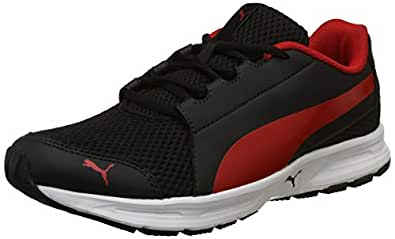 Puma Men's Black-High Risk Red Running Shoes-10 UK/India (44.5 EU) (4060979130067)