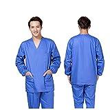 OPPP Abbigliamento medico Lavaggio di Indumenti Abiti a Mano Maniche Lunghe per Uomo e Donna Abbigliamento da Infermiera in Cotone Poliestere con Isolamento Dottore in Cotone