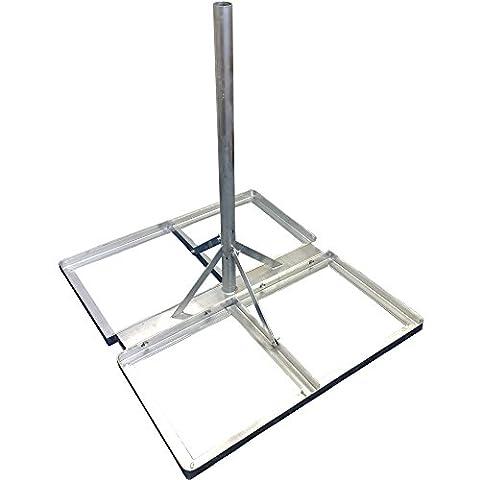 5,1cm galvanisé Satellite/Antenne Support toit/sol Plat NPR/mast-outdoor