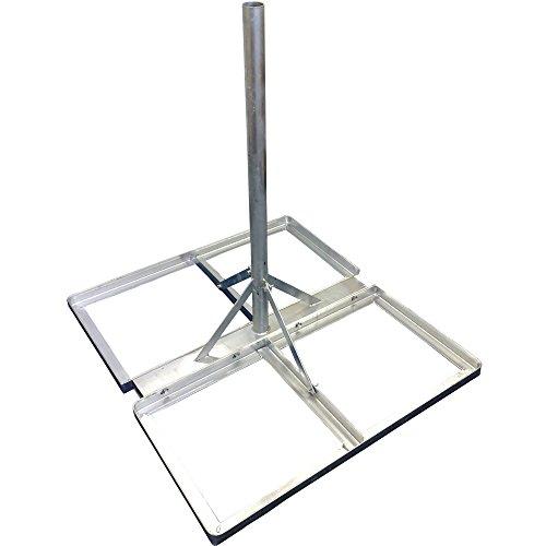 5,1cm verzinkt Satellite/Antenne flach Dach/Boden Halterung NPR/mast-Outdoor/Externe Halterung/Ständer, Balkon/Terrasse - Terrasse Tv-ständer