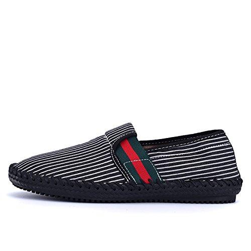 moda maschile, casual espadrilli uomini fatti a mano espadrilli, basso - scarpe e respirabile scarpe black