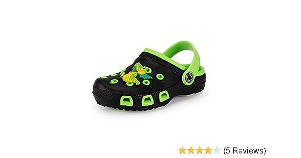 Drecage Kinder Clogs /& Pantoffeln Unisex Hausschuhe Gartenschuhe Pantoletten Badeschuhe Gummi Gartenclogs Jungen M/ädchen
