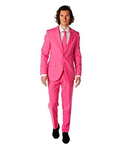 Opposuit Mr. Pink Anzug Krawatte Fasching JGA Karneval (52)