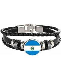 a606eafd02db wei Pulsera World Cup Pulsera de Cuero Tejida Fan Gifts Pulsera de Fútbol  Creative Gems