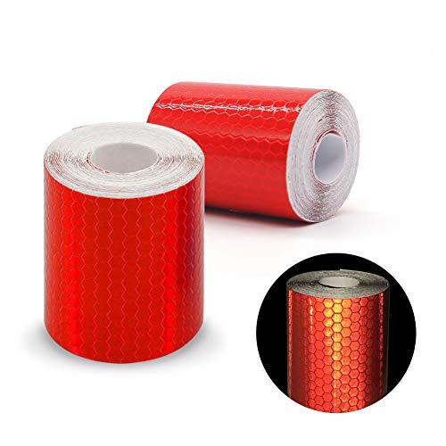 Paquete de 2 rollos de cinta adhesiva reflectante