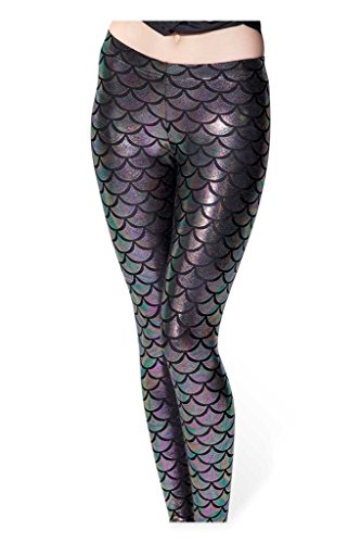 fd425c0163910 DIAMONDKIT Women Sexy Mermaid Fish Scale Hologram Stretch Soft Shine ...