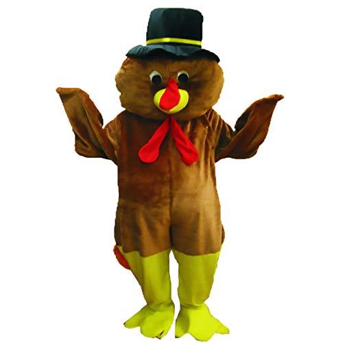 achsenen Thanksgiving Truthahn Maskottchen Kostüm Set ()