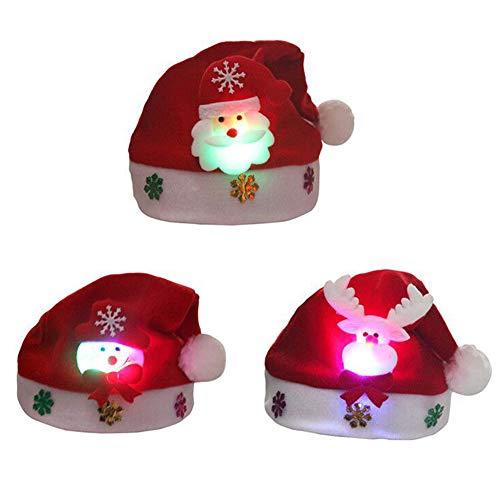 Ymysfit 1/3 Chapeau avec Lumière Forme Cerf Père Noel...