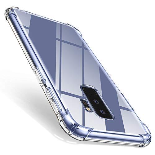 ivencase für Samsung Galaxy S9 Plus Hülle, Soft Ultradünn Handyhülle Vier Ecke Kante Stoßdämpfung Kratzfest Hülle Durchsichtige Schutzhülle TPU Dünn Bumper Schutzhülle für Samsung Galaxy S9 Plus