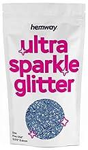 "Hemway Fine Azure Glitter 100g 3.5oz Cosmetic Safe 1/64"" 0.015"" 0.4mm"