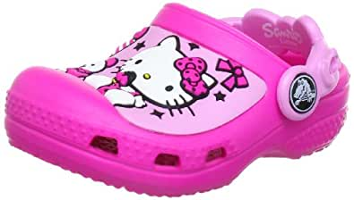 Crocs Creative Hello Kitty Candy Ribbons Neon Magenta/Carnation Mules And Clogs Sandal 12948-6L4-120 11 UK  10/1 Child UK