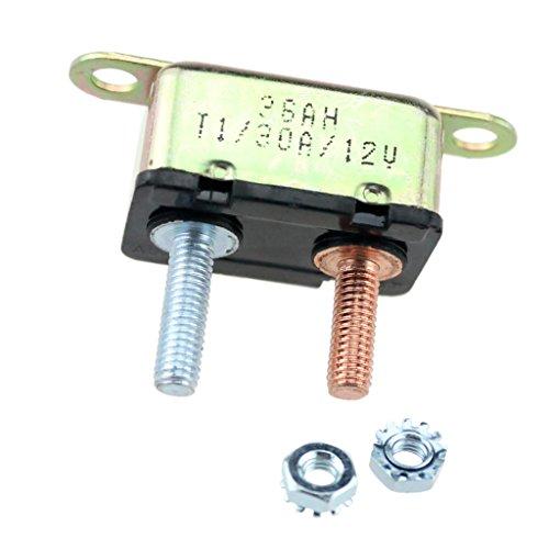Sharplace Disjoncteur Fusible à Gujon 30 Amp 14V-28V Automatique Réinitialisation Circuit Breaker Voiture Caravane