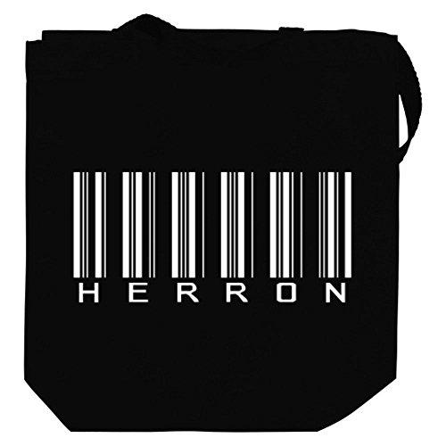 idakoos-herron-barcode-last-names-canvas-tote-bag