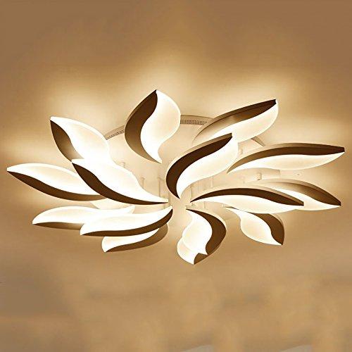 LXSEHN LED-moderne minimalistische Deckenlampe Wohnzimmer Lampe, kreative Studie Esszimmer Lampe, Atmosphäre Schlafzimmer Beleuchtung Lampen Deckenbeleuchtung Laternen Laternen ( Farbe : Remote control-10+5/120CM-108W ) (Eisen Park-designs,)