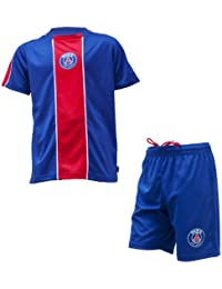Maillot + short PSG - Collection officielle PARIS SAINT GERMAIN - Football club Ligue 1 - Taille enfant garçon