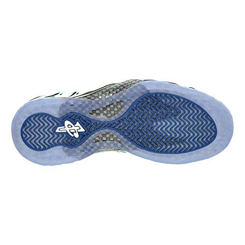 Nike Air Foamposite One Prm, Chaussures de Sport-Basketball Homme mtllc slvr/wht-dk nn ryl-blck