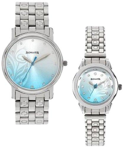 Sonata Analog Multi-Colour Dial Couple Watch -NK10138925SM01