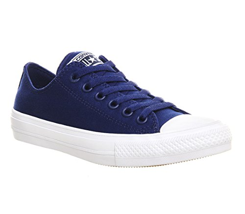 Converse Unisex-Erwachsene Sneakers Chuck Taylor All Star Ii C150149 Low-Top Weiß/Blau