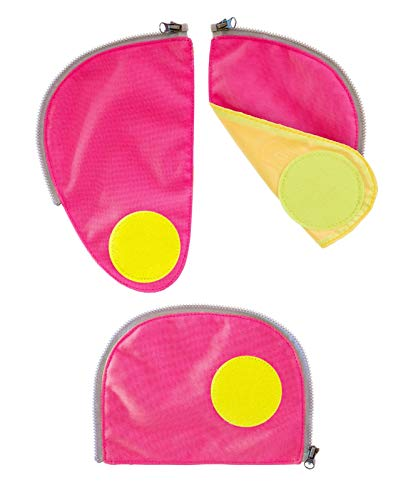 ERGOBAG Pack Sicherheitsset Fluoreszierende Zip-Flächen, 23cm, Rosa (Pink)