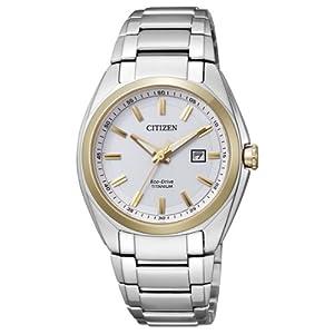 Citizen EW2214-52A – Reloj analógico de Cuarzo para Mujer, Correa de Titanio Multicolor