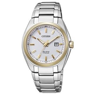 Citizen EW2214-52A – Reloj analógico de Cuarzo para Mujer, Correa de Titanio