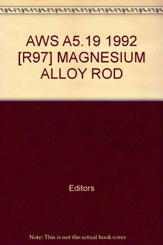 AWS A5.19 1992 [R97] MAGNESIUM ALLOY ROD