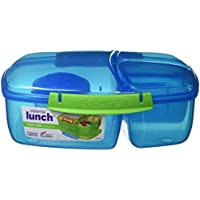 Sistema Lunch Triple Split Lunchbox mit Joghurttopf - 2 L, Blau