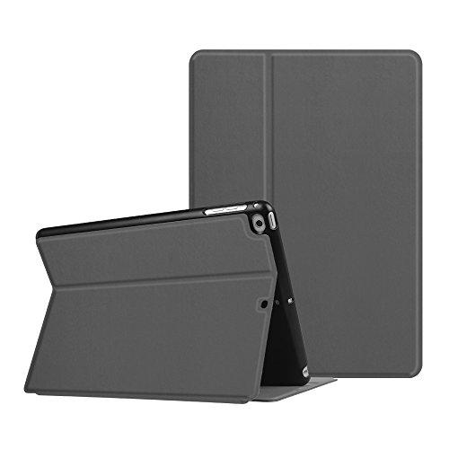 Fintie Nuovo iPad 2018 2017, iPad Air 2 1 Custodia - Multi-Anglo Sottile Pieghevole Folio Cover Protettiva Case Auto Sveglia/Sonno per Apple iPad 9,7 Pollici 2018 2017, iPad Air 1 2, Grigio Siderale