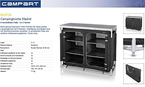 Campart Travel KI-0734 Outdoor Kitchen Madrid 1