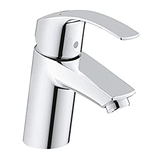 GROHE 3246720L Eurosmart Basin Tap with Smooth Tap Body, Universal Pressure (Suits High or Low Pressure Installations)