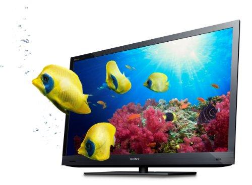 Sony Bravia KDL-46EX725BAEP 117 cm (46 Zoll) 3D Edge LED Fernseher  (Full-HD, Motionflow XR 200Hz, DVB-T/-C/-S2) schwarz -